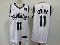Mens Nba Brooklyn Nets #11 Irving White Nike Swingman Jersey
