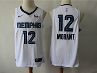 Mens New Season Nba Memphis Grizzlies #12 Ja Morant White Nike Swingman Jersey