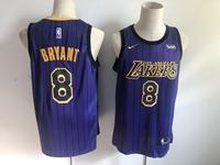 Mens 2019 New Nba Los Angeles Lakers #8 Kobe Bryant Purple Nike City Edition Jersey