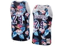 Mens Nba Los Angeles Lakers #24 Kobe Bryant Mitchell & Ness Floral Fashion Mesh Jersey