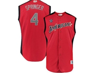 Mens 2019 Mlb All Star Game Houston Astros #4 George Springer Red Sleeveless Cool Base Jersey