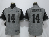 Women Nfl New York Jets #14 Sam Darnold Stitched Gridiron Gray Vapor Untouchable Limited Nike Jersey