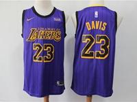 Mens 2019 New Nba Los Angeles Lakers #23 Davis Purple Nike City Edition Jersey