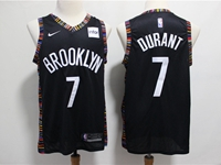 Mens 2019 New Nba Brooklyn Nets #7 Kevin Durant Black City Edition Nike Jersey