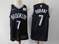Mens Nba Brooklyn Nets #7 Kevin Durant Black Nike Swingman Jersey