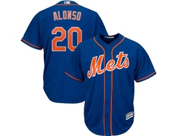 Mens 2019 Mlb New York Mets #20 Pete Alonso Blue Cool Base Player Jersey