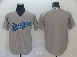 Mens Mlb Los Angeles Dodgers Blank Gray Cool Base Jersey