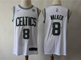 Mens 2019 New Nba Boston Celtics #8 Kemba Walker White Swingman Jersey