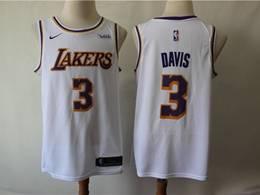 Mens 2019 New Nba Los Angeles Lakers #3 Davis White Swingman Nike Jersey