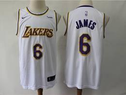 Mens 2019 New Nba Los Angeles Lakers #6 James White City Edition Swingman Nike Jersey