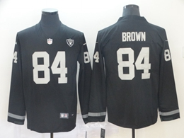 Mens Nfl Oakland Raiders #84 Antonio Brown Black Nike Therma Long Sleeve Vapor Untouchable Jersey