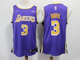Mens 2019 New Nba Los Angeles Lakers #3 Davis Purple Swingman Nike Jersey