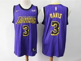 Mens 2019 New Nba Los Angeles Lakers #3 Davis Purple Nike City Edition Jersey