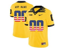 Mens 2019 New Ncaa Nfl Iowa Hawkeyes Yellow Printed Fashion Current Player Jersey