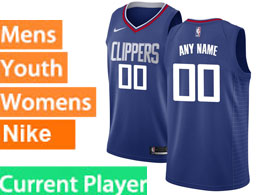Mens Nba Nike Los Angeles Clippers Current Player Blue Swingman Jersey