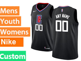 Mens Nba Nike Los Angeles Clippers Custom Made Black Swingman Jersey