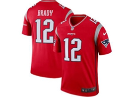 Mens New England Patriots #12 Tom Brady Red Nike Inverted Legend Jersey