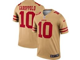 Mens Nfl San Francisco 49ers #10 Jimmy Garoppolo Gold Nike Inverted Legend Jersey