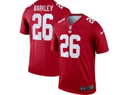 Mens Nfl New York Giants #26 Saquon Barkley Red Nike Inverted Legend Jersey