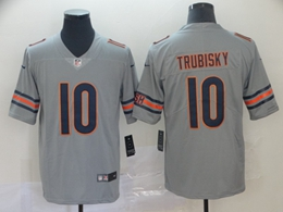 Mens Nfl Chicago Bears #10 Mitchell Trubisky Silver Nike Inverted Legend Vapor Untouchable Limited Jersey