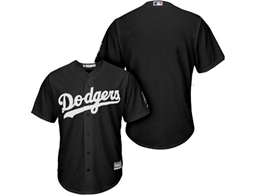 Mens Mlb Los Angeles Dodgers Blank Black Inverted Legend Cool Base Jersey