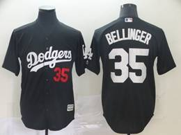 Mens Mlb Los Angeles Dodgers #35 Cody Bellinger Black Inverted Legend Cool Base Jersey